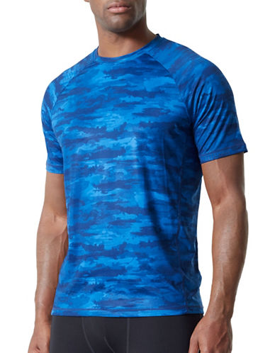 Mpg Pace Camouflage Tee-BLUE-Medium