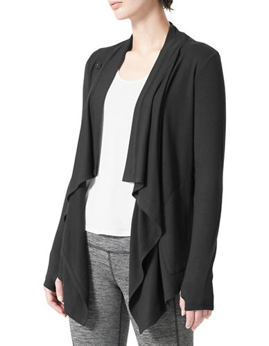 Mpg Long Sleeve Cardigan-BLACK-Large