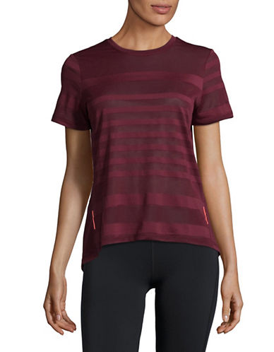 Mpg Striped Mesh T-Shirt-PORT-X-Large