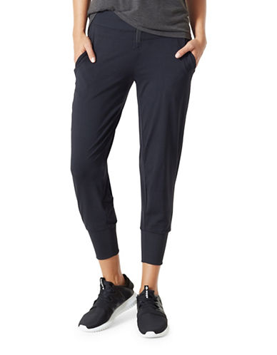 Mpg Simpatico Cropped Jogger Pants-BLACK-Medium