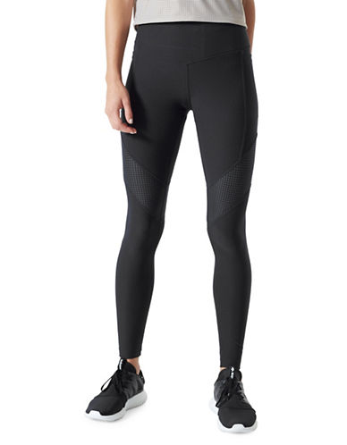 Mpg Perforated Capri Leggings-BLACK-Small