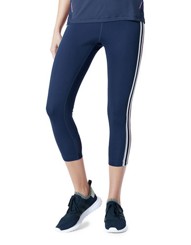 Mpg Varsity Capri Leggings-NAVY-X-Small