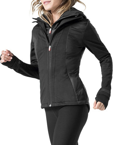 Mpg Two-Piece Storm Jacket and Inner Vest Set-BLACK-Medium