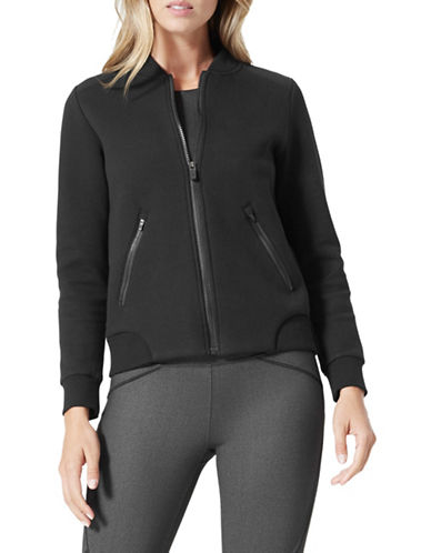 Mpg Rockland Zip-Front Bomber Jacket-BLACK-Large