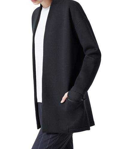 Mpg Granville Cocoon Coat-BLACK-Medium