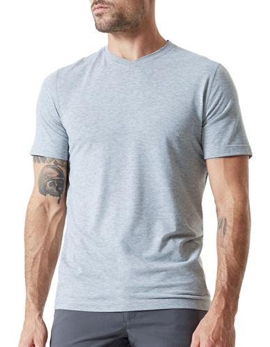 Mpg Tower V-Neck Tee-GREY-XX-Large