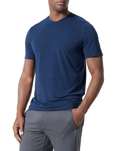 Mpg Tower V-Neck Tee-BLUE-Large