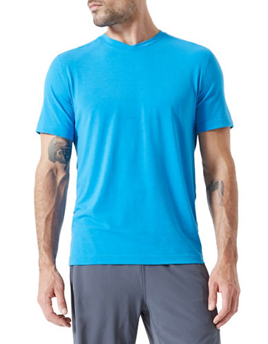 Mpg Tower V-Neck Tee-BLUE-X-Large