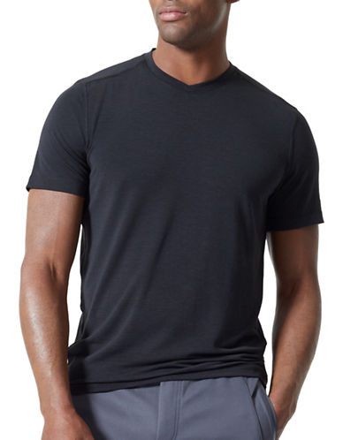 Mpg Tower V-Neck Tee-BLACK-Medium