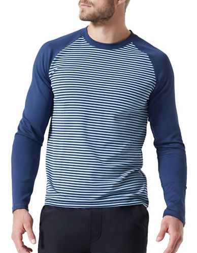 Mpg Bentley Striped Top-NAVY-Medium