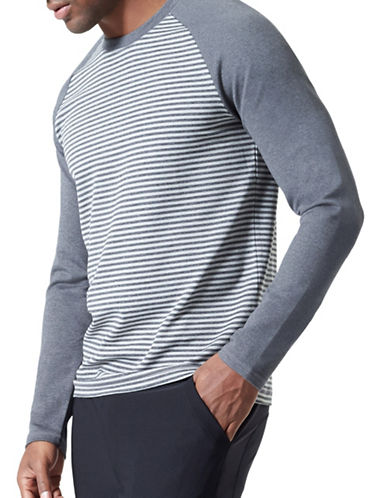 Mpg Bentley Striped Top-GREY-Large