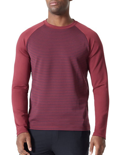 Mpg Bentley Striped Top-RED-Large