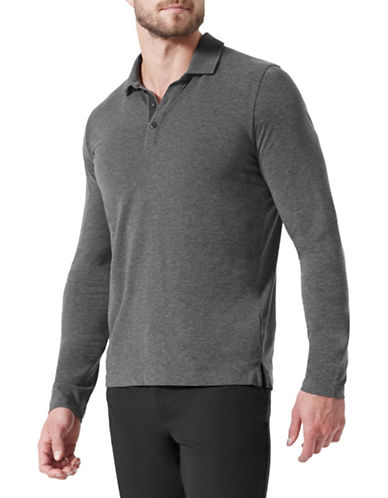 Mpg Pillar Cashmere-Blend Jersey Polo-GREY-Large 89695095_GREY_Large