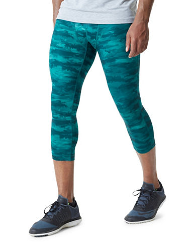 Mpg Bandit 2.0 Camouflage Leggings-GREEN CAMO-Large
