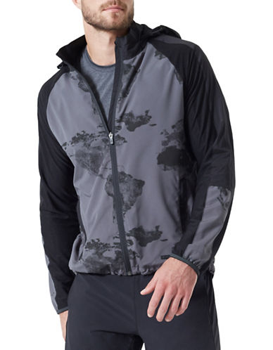 Mpg Optic Printed Jacket-BLACK-Large