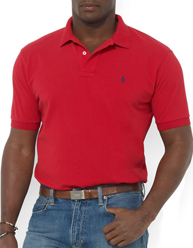 Polo Ralph Lauren Big and Tall Classic-Fit Short-Sleeved Cotton Mesh Polo-RL 2000 RED-2X Big