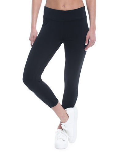 Gaiam Om Yoga Capri Leggings-BLACK-X-Small 89750714_BLACK_X-Small