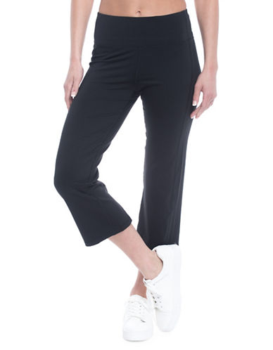 Gaiam Om Straight Yoga Capri Pants-BLACK-X-Small 89750709_BLACK_X-Small