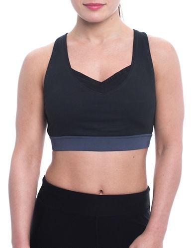 Gaiam Roxie Sports Bra-BLACK-Small