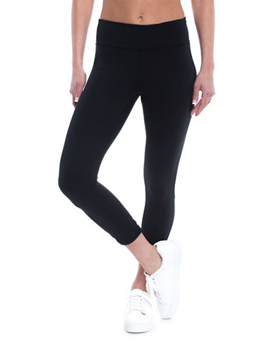 Gaiam Aster Yoga Capri Leggings-BLACK-Small