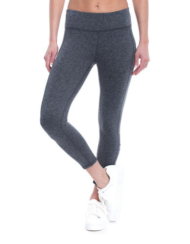 Gaiam Whitney Yoga Capri Leggings-CHARCOAL-Small