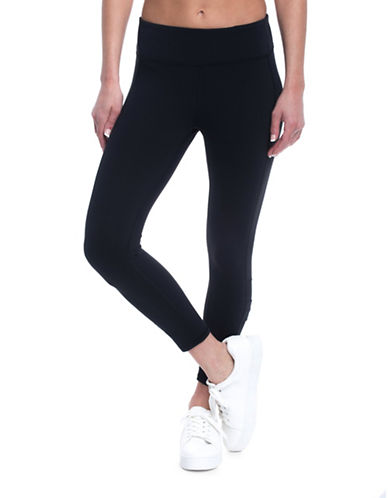 Gaiam Whitney Yoga Capri Leggings-BLACK-Small