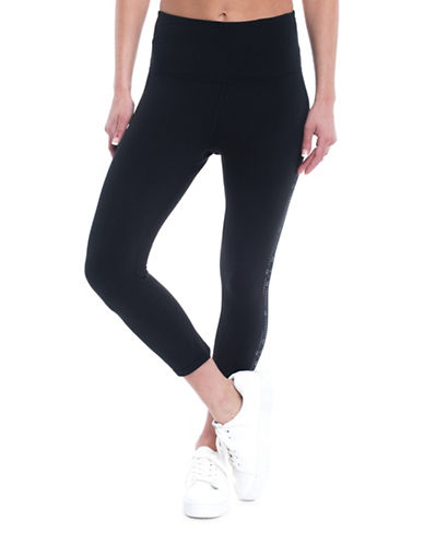 Gaiam High-Waist Tyra Capri Leggings-BLACK-Small 89368572_BLACK_Small