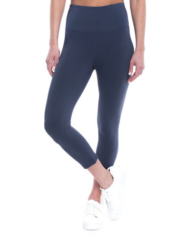 Gaiam High-Waist Tyra Capri Leggings-NAVY-Small