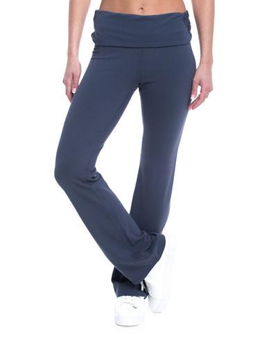 Gaiam Nova Om Mid-Rise Bootcut Pants-NAVY-Small