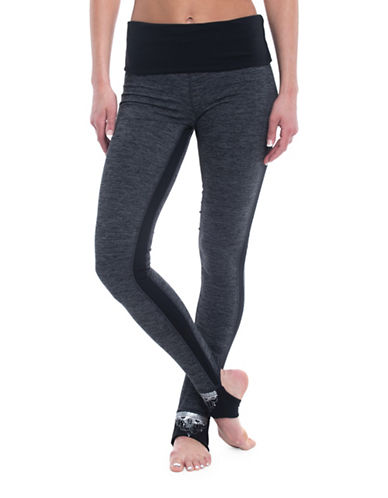Gaiam Avalon Foldover Mid-Rise Leggings-CHARCOAL-Small 89368605_CHARCOAL_Small
