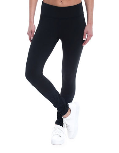 Gaiam Zoey 7/8ths Mid-Rise Leggings-BLACK-Small
