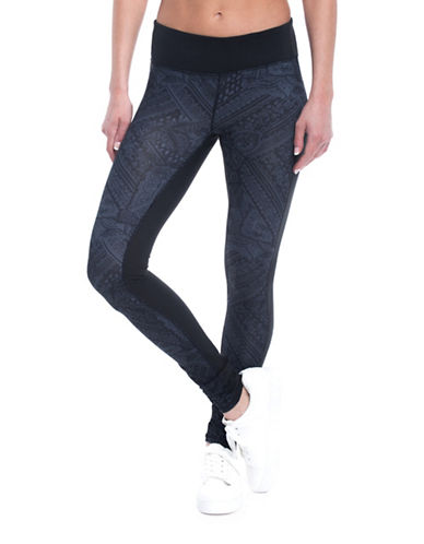 Gaiam Luxe Mid-Rise Yoga Leggings-GREY-Small