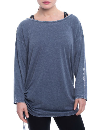 Gaiam Bryn Slouchy Tee-NAVY-Small