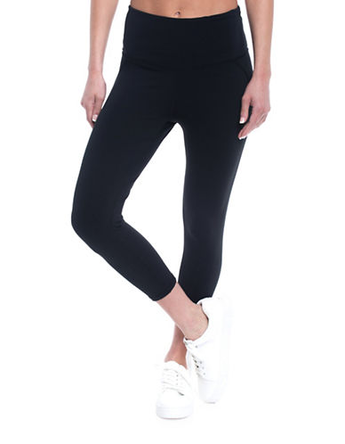 Gaiam Om High-rise Capri Leggings-BLACK-Small