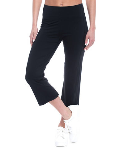 Gaiam Mid-Rise Om Straight Yoga Capri Leggings-BLACK-Small 89368646_BLACK_Small