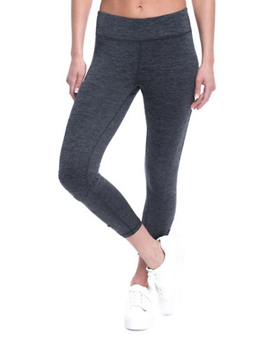 Gaiam Mid-Rise Om Yoga Capri Leggings-CHARCOAL-Small