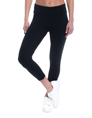Gaiam Mid-Rise Om Yoga Capri Leggings-BLACK-Small 89368631_BLACK_Small