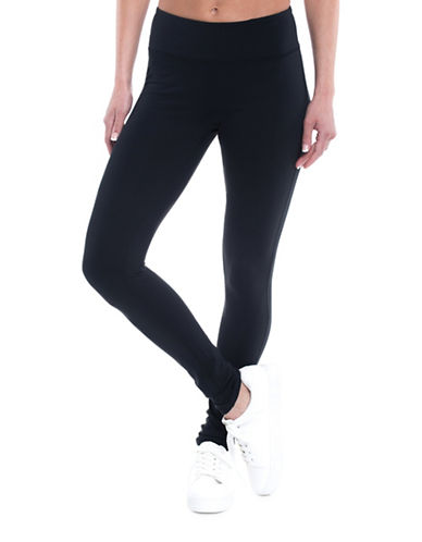 Gaiam Om Mid-Rise Yoga Leggings-BLACK-Small