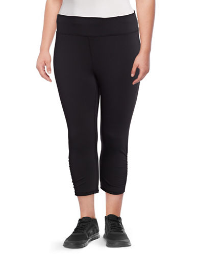 Gaiam Plus Om Yoga Capri Pants-BLACK-3X