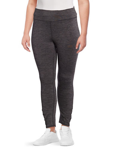 Gaiam Plus Om Yoga Leggings-GREY-2X