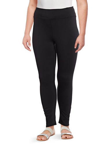 Gaiam Plus Om Yoga Leggings-BLACK-1X
