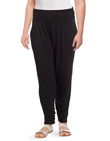 Gaiam Plus Grace Harem Capri Pants-BLACK-1X