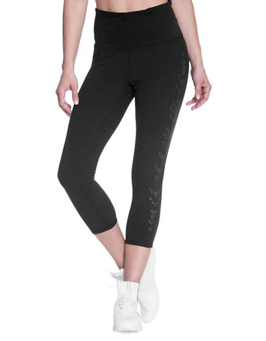 Gaiam Om Luxe High-Waist Capri Leggings-BLACK-Medium 89750593_BLACK_Medium