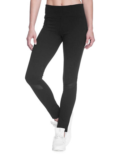 Gaiam Om Luxe Mesh Leggings-BLACK-Large 89750610_BLACK_Large