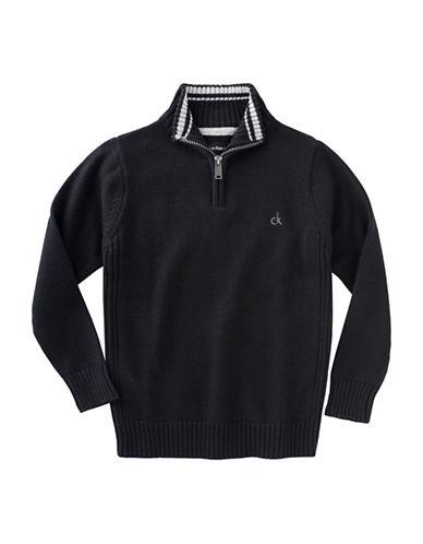 Calvin Klein Half-Zip Sweater-BLACK-Medium 88754209_BLACK_Medium