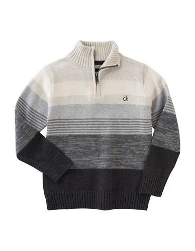 Calvin Klein Axis Quarter-Zip Sweater-GREY-Medium 88778941_GREY_Medium