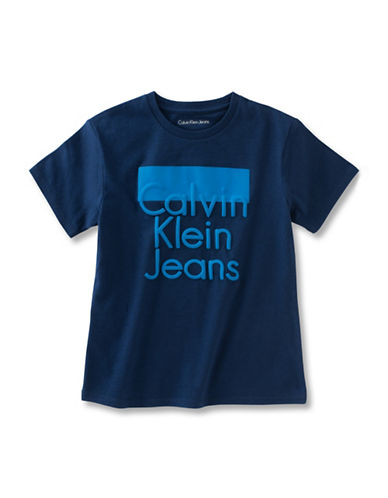 Calvin Klein Colourblock Logo T-Shirt-BLUE-X-Large 89044751_BLUE_X-Large