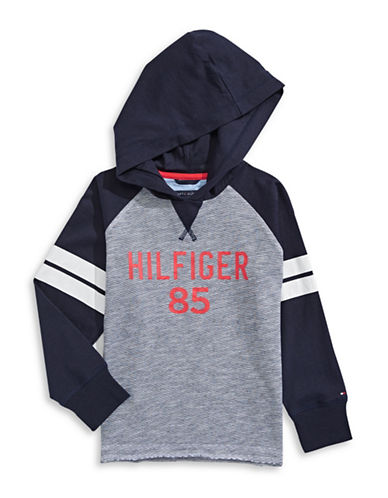 Tommy Hilfiger Raglan Logo Hoodie-BLUE-Small 88904975_BLUE_Small