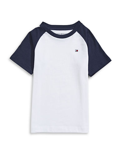 Tommy Hilfiger Raglan T-Shirt-WHITE-Large 88905005_WHITE_Large
