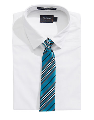 Arrow Dress Shirt and Tie Set-WHITE-5